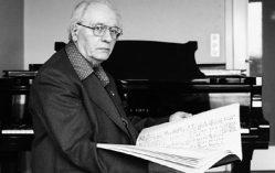 Olivier Messiaen im hohen Alter